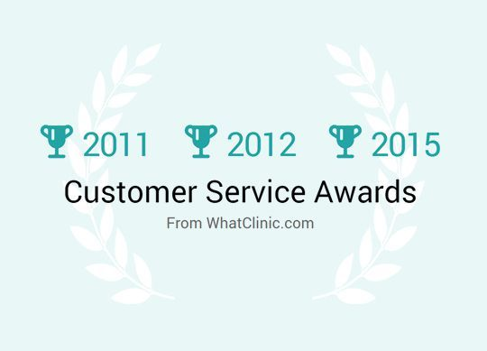 We have received 'Customer Service Awards'